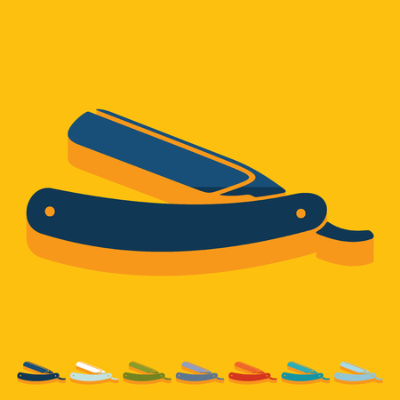 Flat design: razor