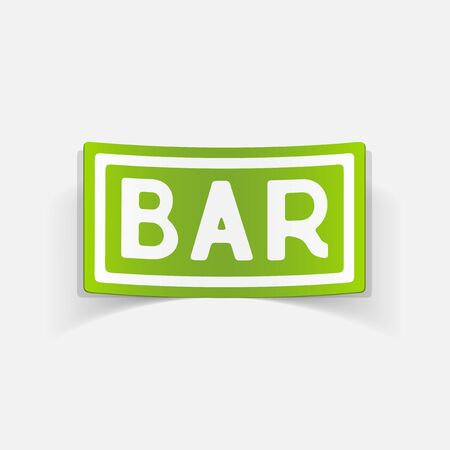 counter top: realistic design element: bar Illustration