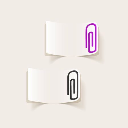 paper  clip: realistic design element: paper clip Illustration