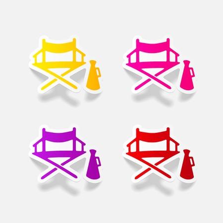 director chair: realistic design element: cinema