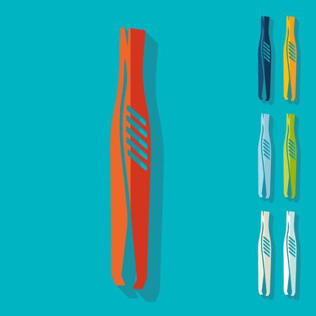 pinzas: Diseño plano: Pinzas Vectores