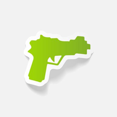 realistic design element: gun