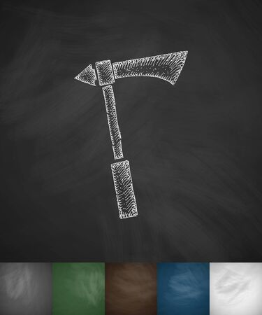 ax icon. Hand drawn vector illustration Illustration