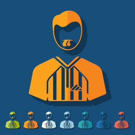 Flat design: referee