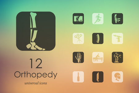 orthopedics: Set of orthopedics icons