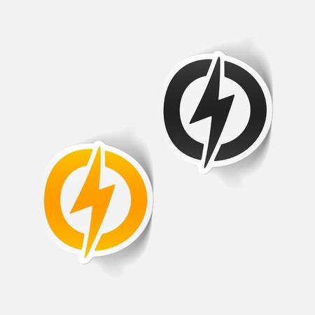 realistic design element: lightning bolt