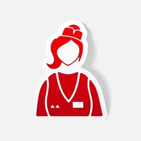 realistic design element. saleswoman Illustration