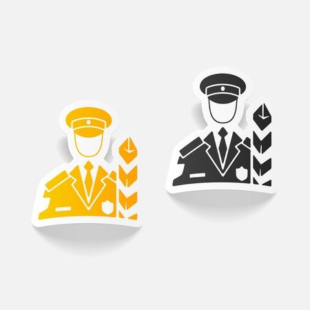 elemento de diseño realista. inspector de aduanas Ilustración de vector