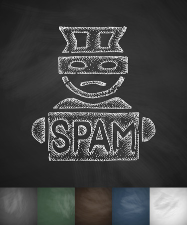 spammer icon. Hand drawn vector illustration