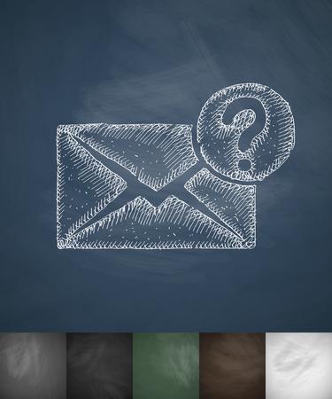Icona della lettera. Illustrazione vettoriale disegnato a mano