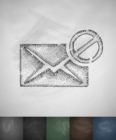 Stop letter icon. Hand drawn vector illustration