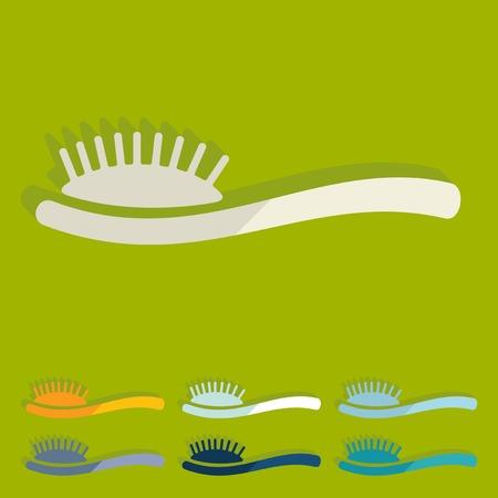 Flat design: hair brush