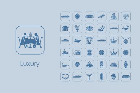 Set of luxury simple icons