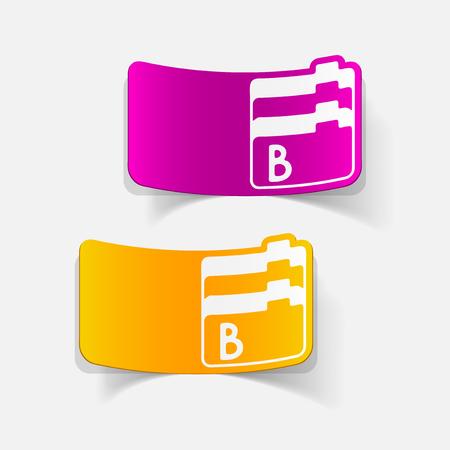 box size: realistic design element: folder