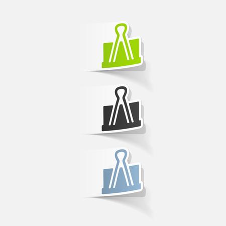 realistic design element: clip