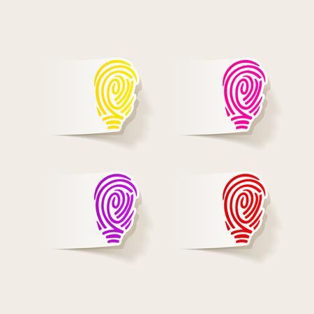 soleness: realistic design element: fingerprint