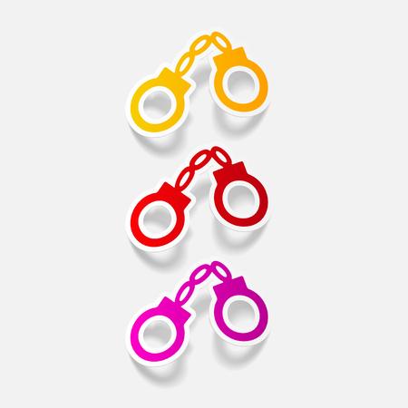 realistic design element: handcuffs Illustration