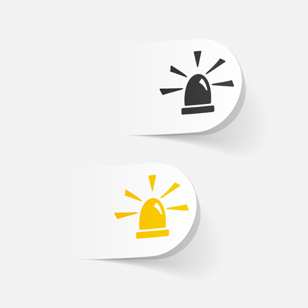 security lights: realistic design element. flasher
