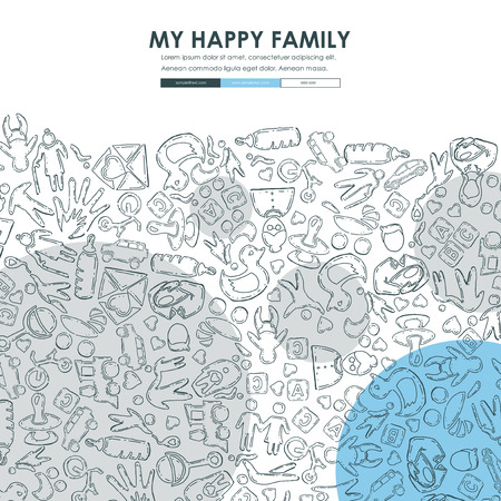 family Doodle Website Template Design