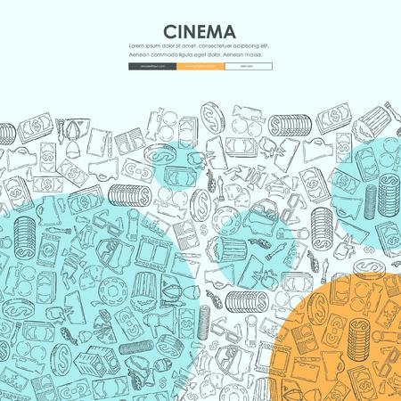 Site web site de cinéma doodle Banque d'images - 75414407