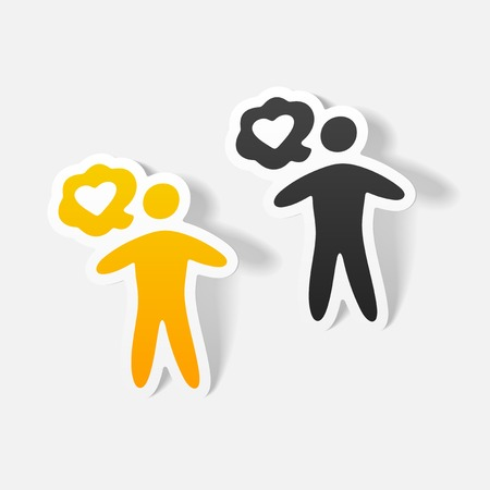 realistisch ontwerp element: mensen geluk