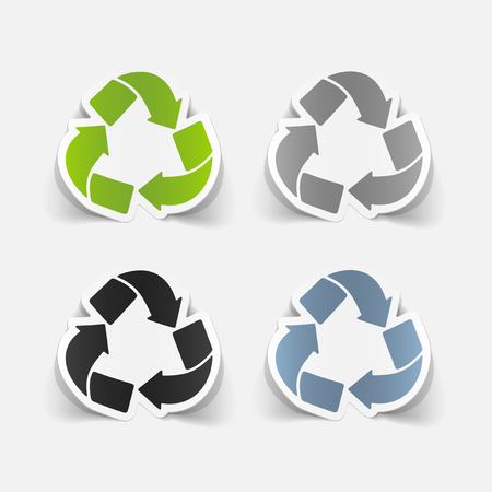 ecological adaptation: realistic design element: recycle sign