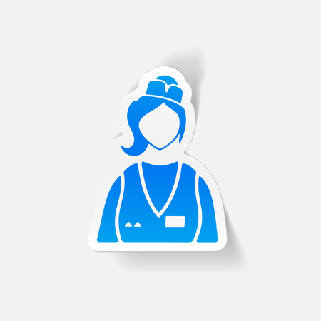 realistic design element. saleswoman Illustration