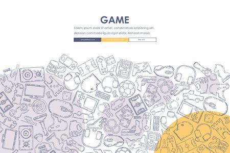 gaming Doodle Website Template Design
