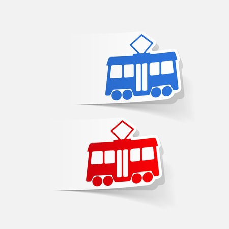 realistic design element: tram Stock Vector - 76502032