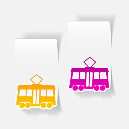 realistic design element: tram Stock Vector - 76502030