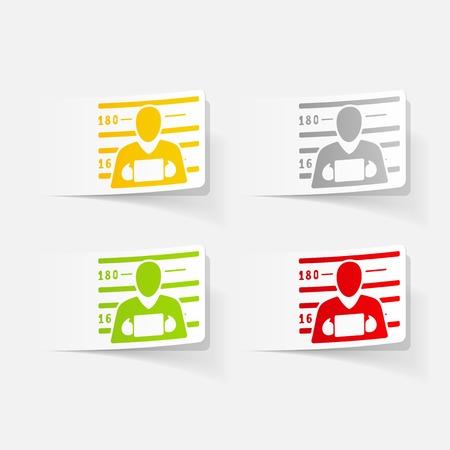 Réaliste élément de design. suspect Banque d'images - 76502103