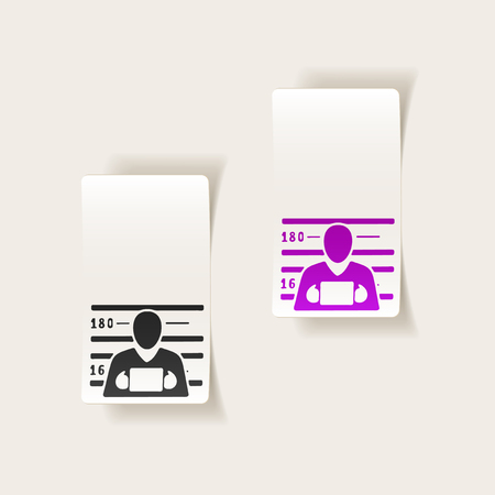 realistic design element. suspect Illustration