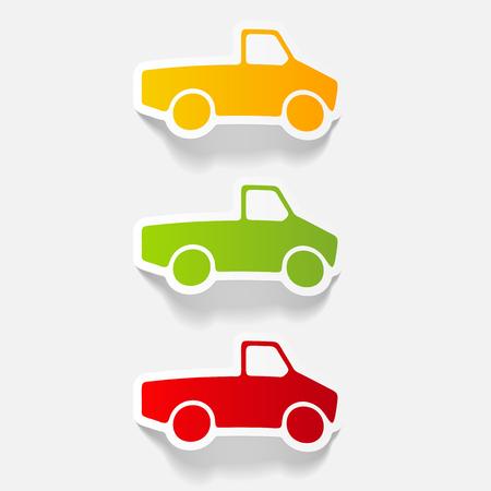 realistic design element: car pickup