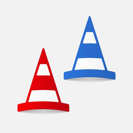 realistic design element: road cones Illustration