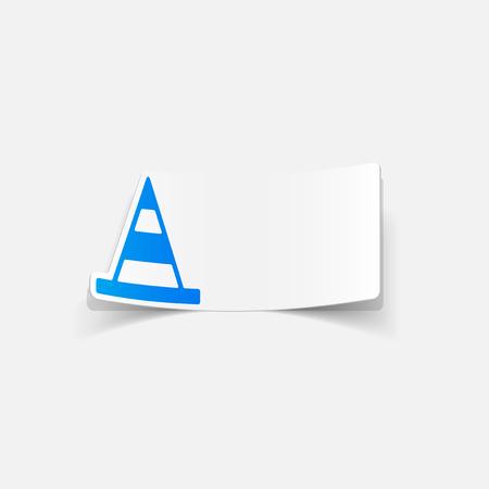 realistic design element: road cones Ilustrace