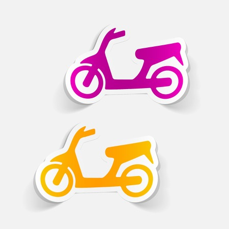 realistic design element: scooter