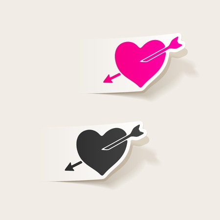 realistic design element: heart