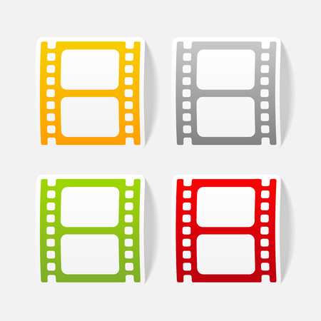 Realista elemento de diseño: la película Foto de archivo - 77170632