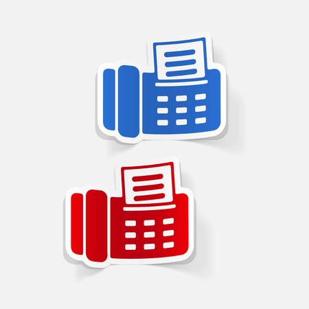 realistic design element: fax Stock Vector - 77534277