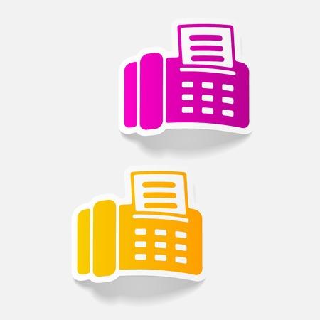 現実的なデザイン要素: fax  イラスト・ベクター素材