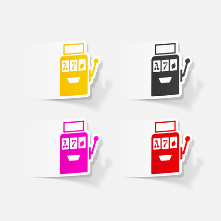 Realistic design element: slot machine Illustration