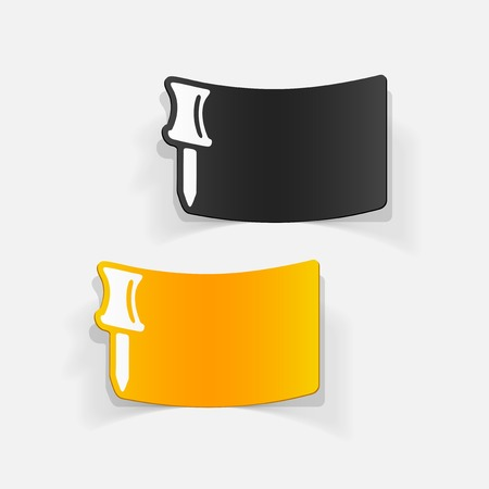 realistic design element: push pin Ilustração