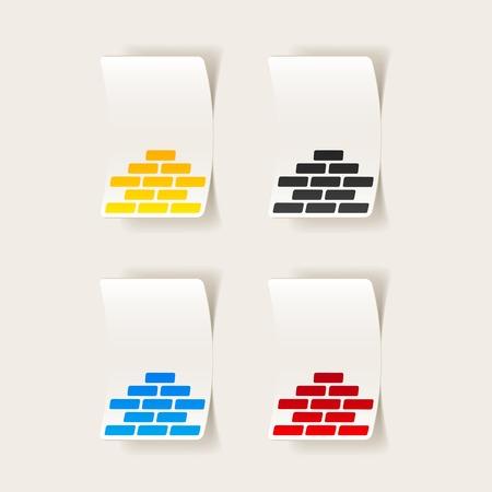 realistic design element: brickwork Illustration