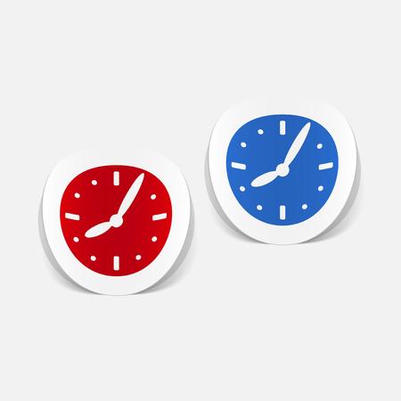realistic design element: clock Ilustração