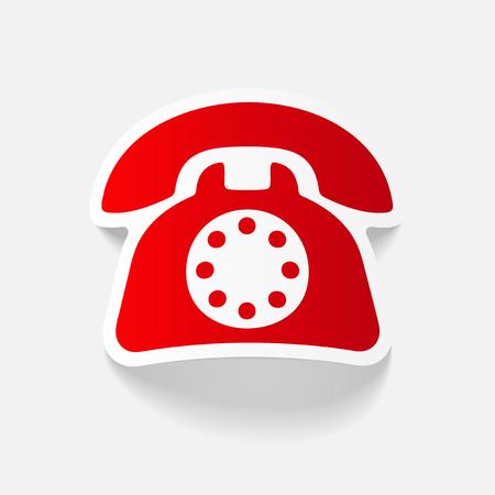 cable telefono: Elemento de diseño realista: teléfono