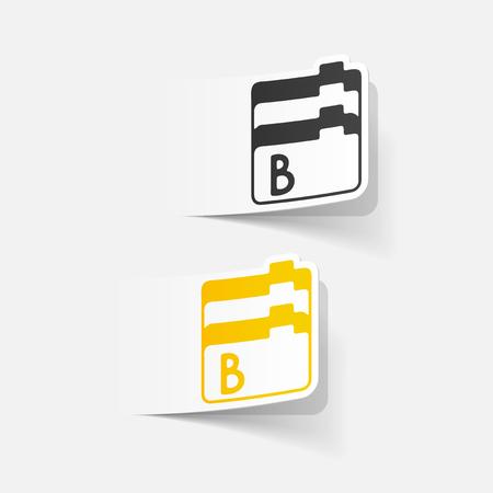 size: realistic design element: folder