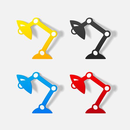 Réaliste élément de design: lampe de bureau Banque d'images - 77660087