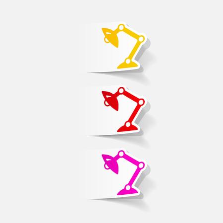 Réaliste élément de design: lampe de bureau Banque d'images - 77660223