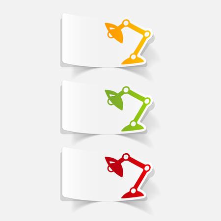 Réaliste élément de design: lampe de bureau Banque d'images - 77660225