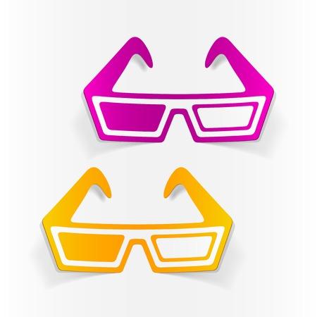 stereoscopic: realistic design element: 3d glasses